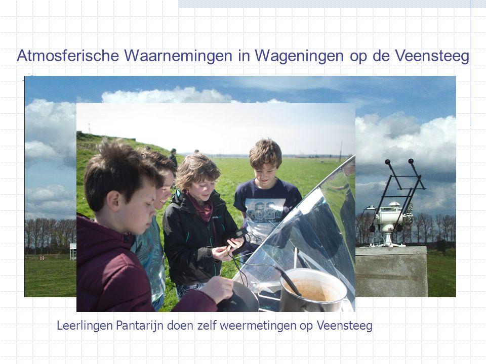 Wageningen Atmospheric Observatory Atmosferische Waarnemingen in Wageningen op de Veensteeg Leerlingen Pantarijn doen zelf weermetingen op Veensteeg