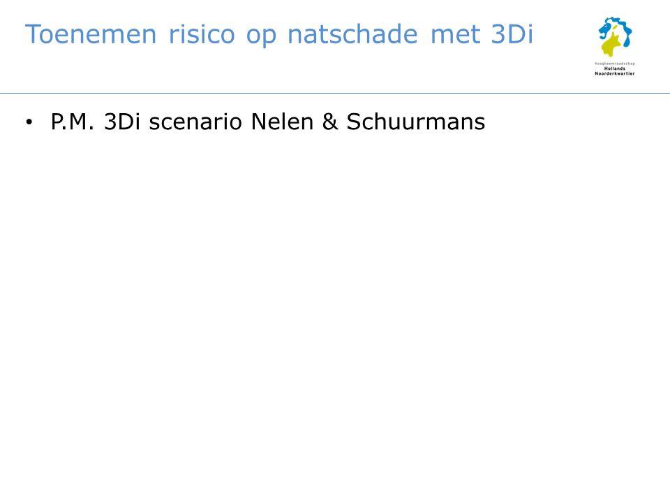 Toenemen risico op natschade met 3Di P.M. 3Di scenario Nelen & Schuurmans