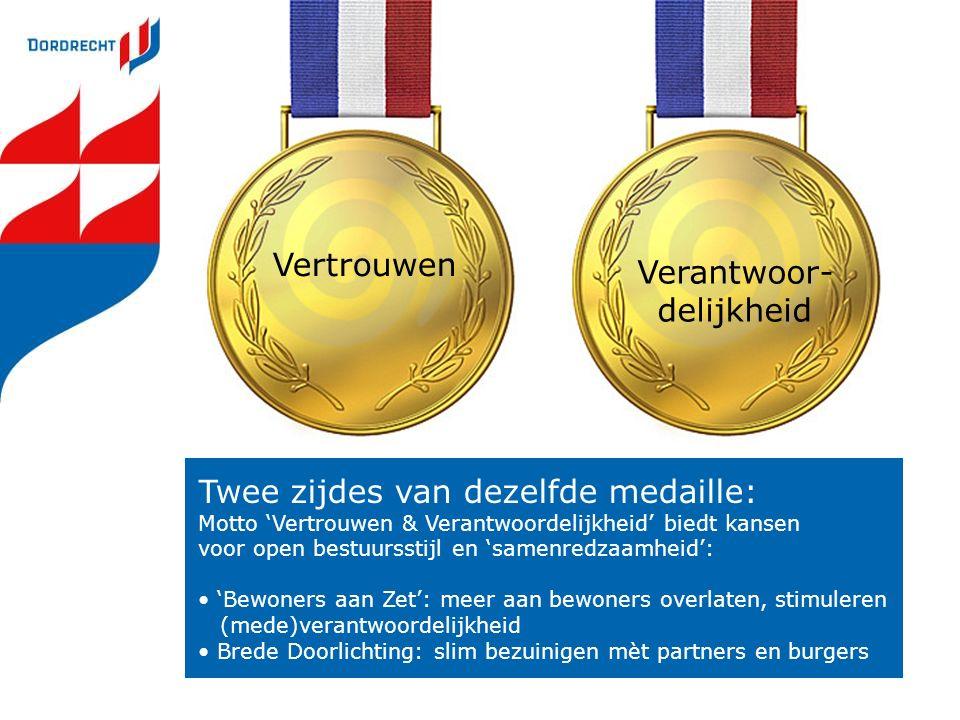 Vertrouwen Twee zijdes van dezelfde medaille: Motto 'Vertrouwen & Verantwoordelijkheid' biedt kansen voor open bestuursstijl en 'samenredzaamheid': 'B