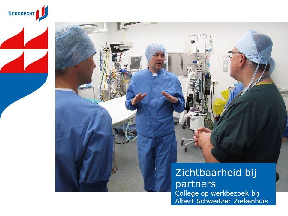 Zichtbaarheid bij partners College op werkbezoek bij Albert Schweitzer Ziekenhuis