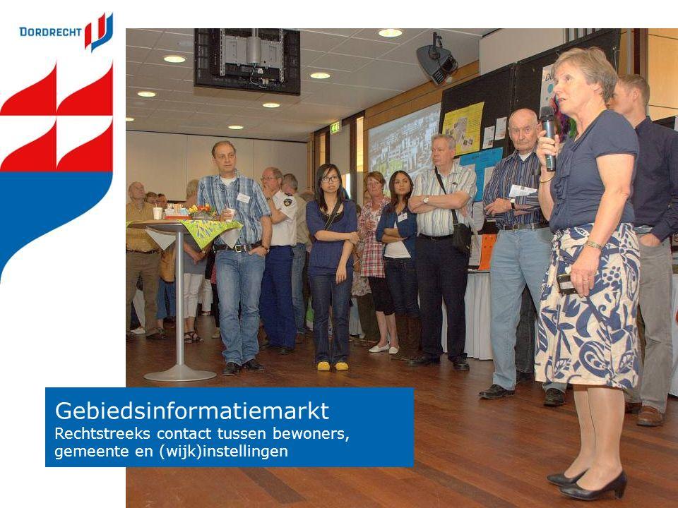 Gebiedsinformatiemarkt Rechtstreeks contact tussen bewoners, gemeente en (wijk)instellingen
