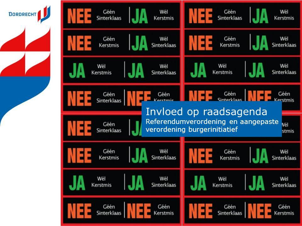 Invloed op raadsagenda Referendumverordening en aangepaste verordening burgerinitiatief