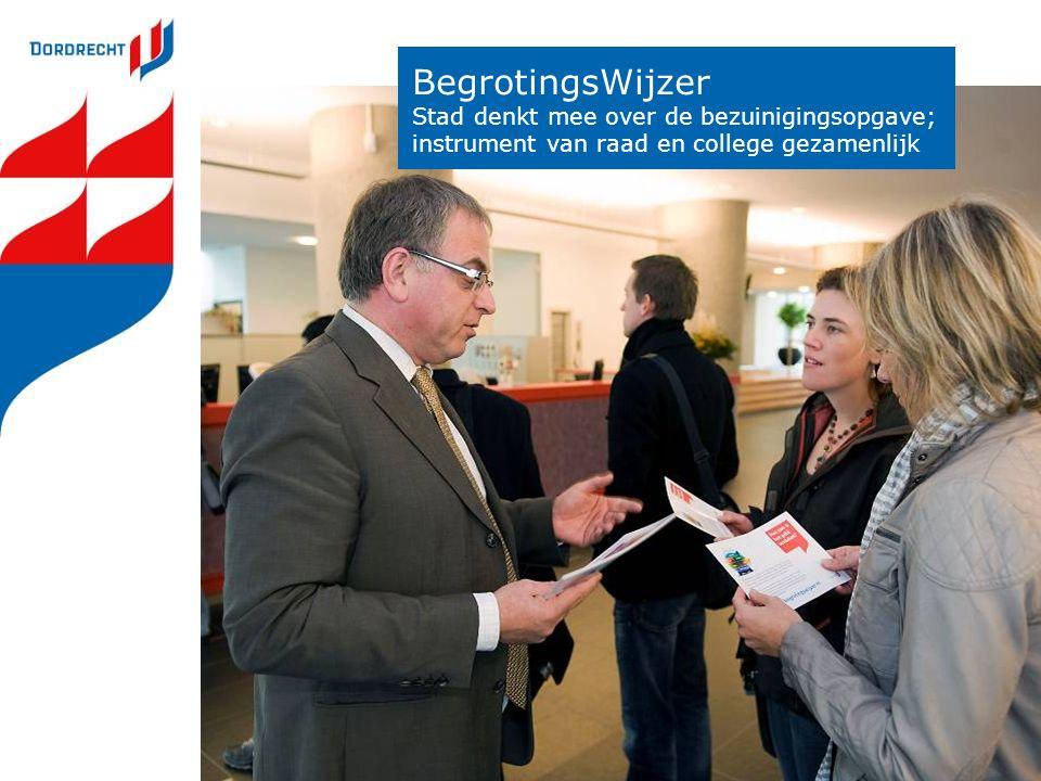 BegrotingsWijzer Stad denkt mee over de bezuinigingsopgave; instrument van raad en college gezamenlijk