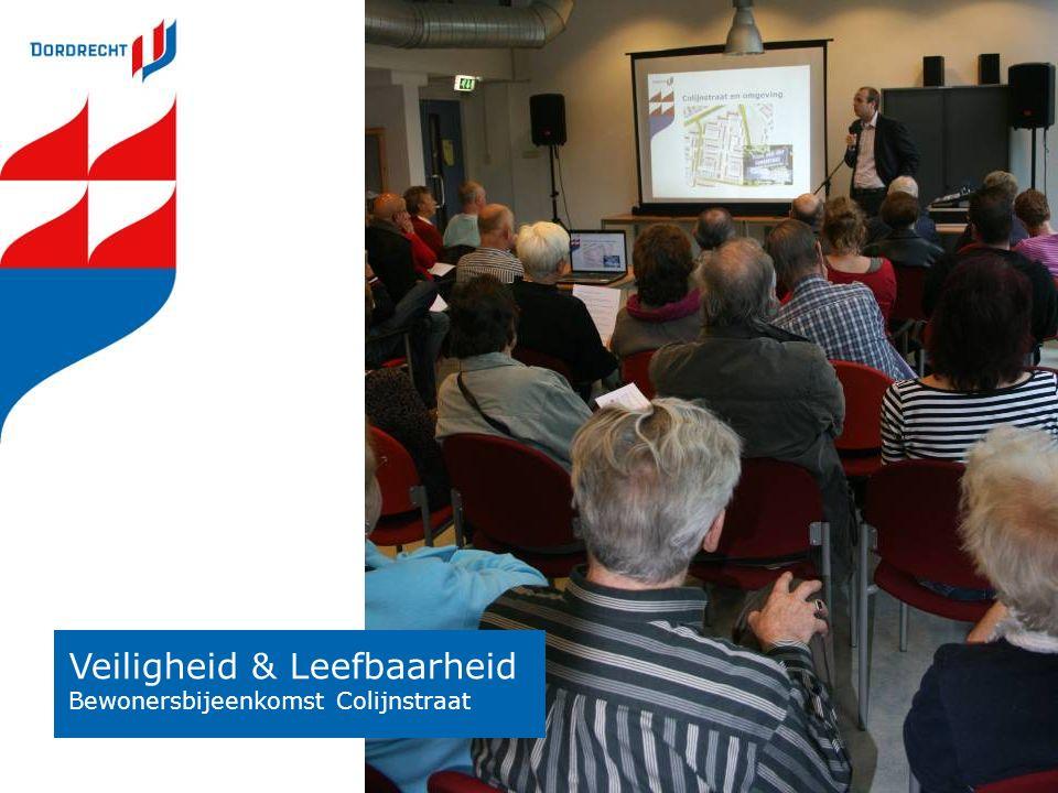 Veiligheid & Leefbaarheid Bewonersbijeenkomst Colijnstraat