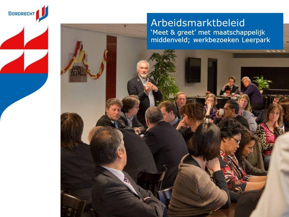 Arbeidsmarktbeleid 'Meet & greet' met maatschappelijk middenveld; werkbezoeken Leerpark