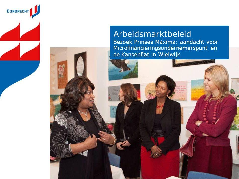 Arbeidsmarktbeleid Bezoek Prinses Máxima: aandacht voor Microfinancieringsondernemerspunt en de Kansenflat in Wielwijk