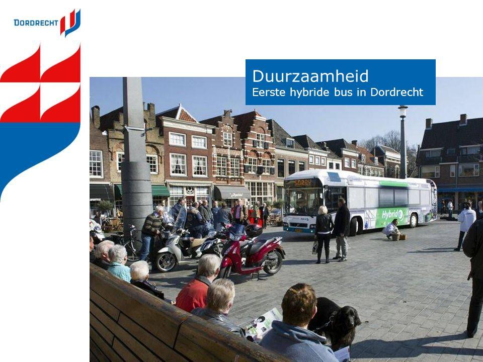 Duurzaamheid Eerste hybride bus in Dordrecht