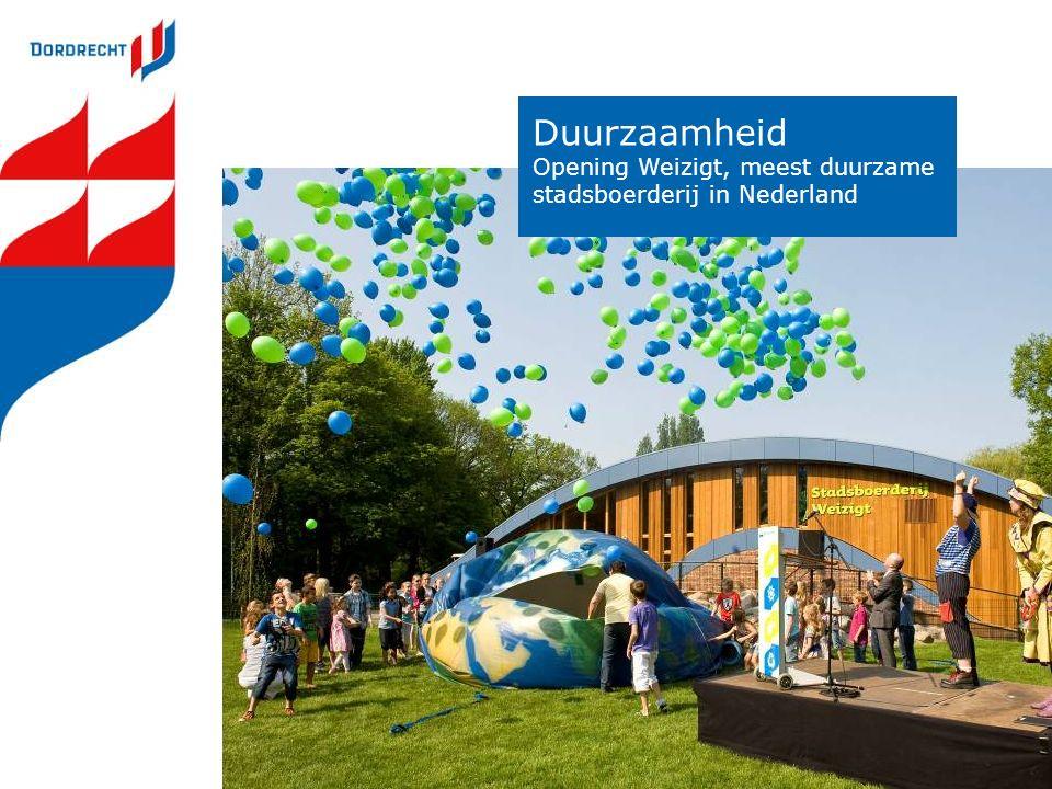 Duurzaamheid Opening Weizigt, meest duurzame stadsboerderij in Nederland
