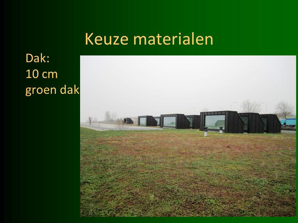 Keuze materialen Dak: 10 cm groen dak