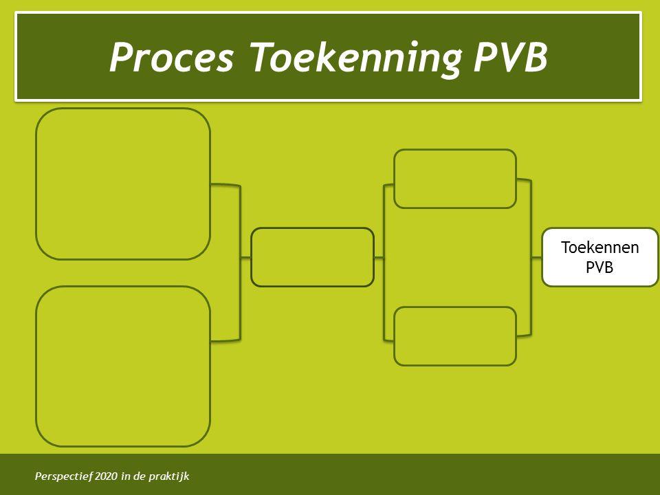 Perspectief 2020 in de praktijk Proces Toekenning PVB Toekennen PVB