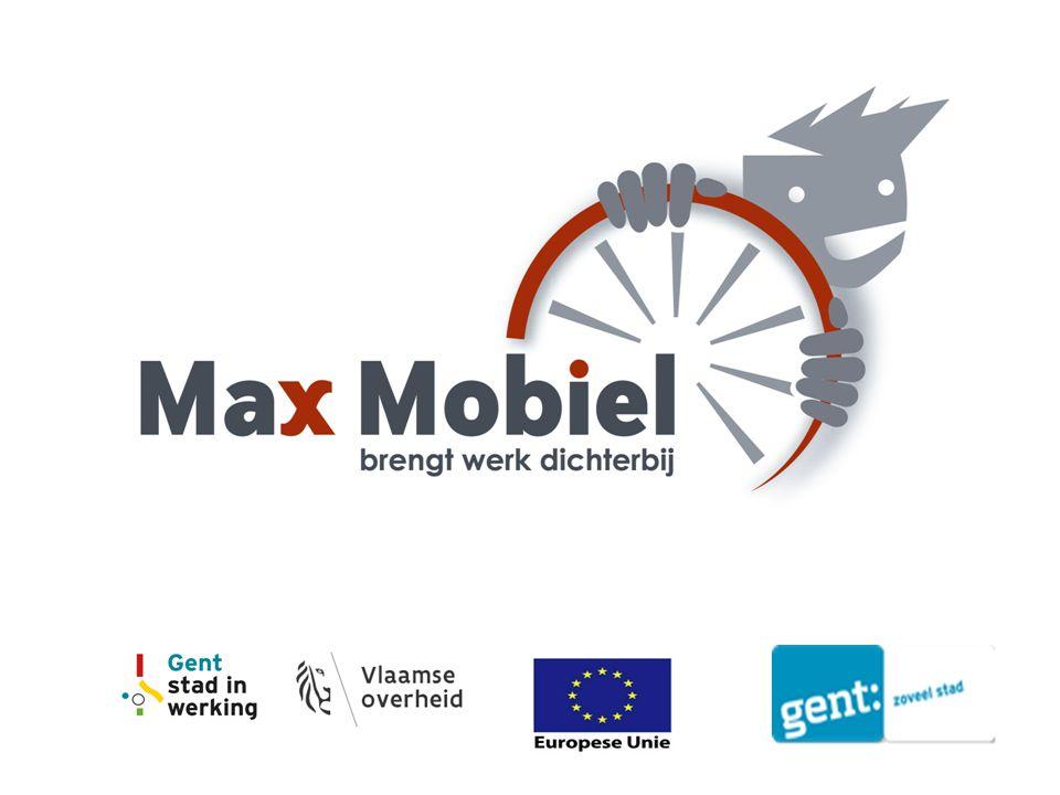 1.Sociaal Economiebedrijf opgericht door de stad Gent en zijn partners 2.Wil meerwaarde bieden op mobiliteit sociale tewerkstelling economie ecologie Max Mobiel vzw
