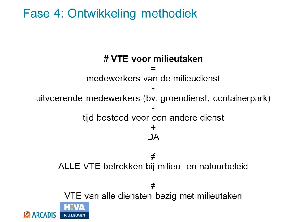 # VTE voor milieutaken = medewerkers van de milieudienst - uitvoerende medewerkers (bv.