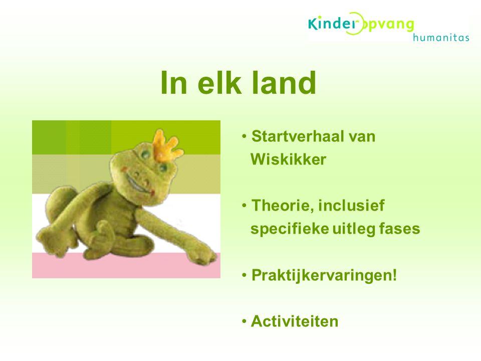 In elk land Startverhaal van Wiskikker Theorie, inclusief specifieke uitleg fases Praktijkervaringen.