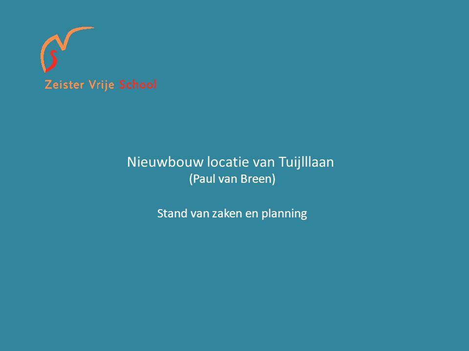 Nieuwbouw locatie van Tuijlllaan (Paul van Breen) Stand van zaken en planning
