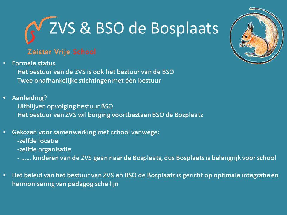 ZVS & BSO de Bosplaats Formele status Het bestuur van de ZVS is ook het bestuur van de BSO Twee onafhankelijke stichtingen met één bestuur Aanleiding.