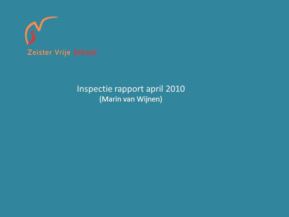 Inspectie rapport april 2010 (Marin van Wijnen)