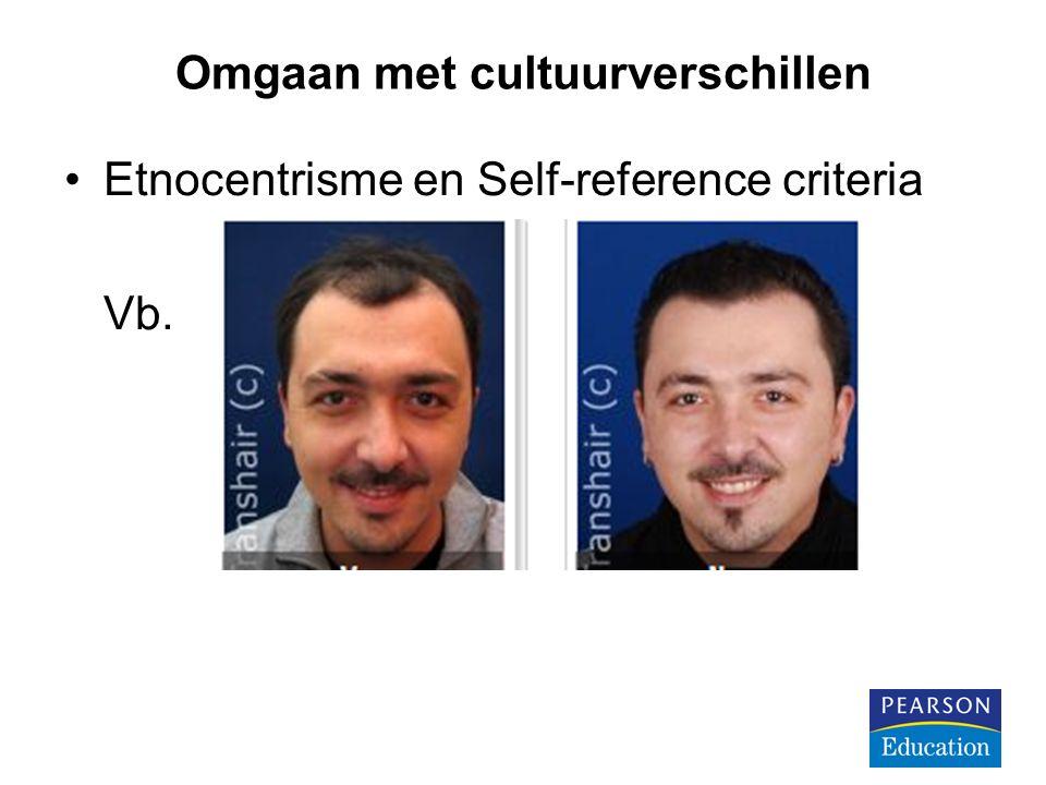 Omgaan met cultuurverschillen Etnocentrisme en Self-reference criteria Vb.