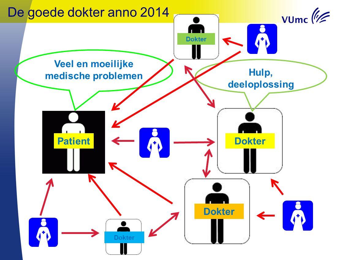 Patient Dokter Veel en moeilijke medische problemen De goede dokter anno 2014 Dokter Hulp, deeloplossing Dokter