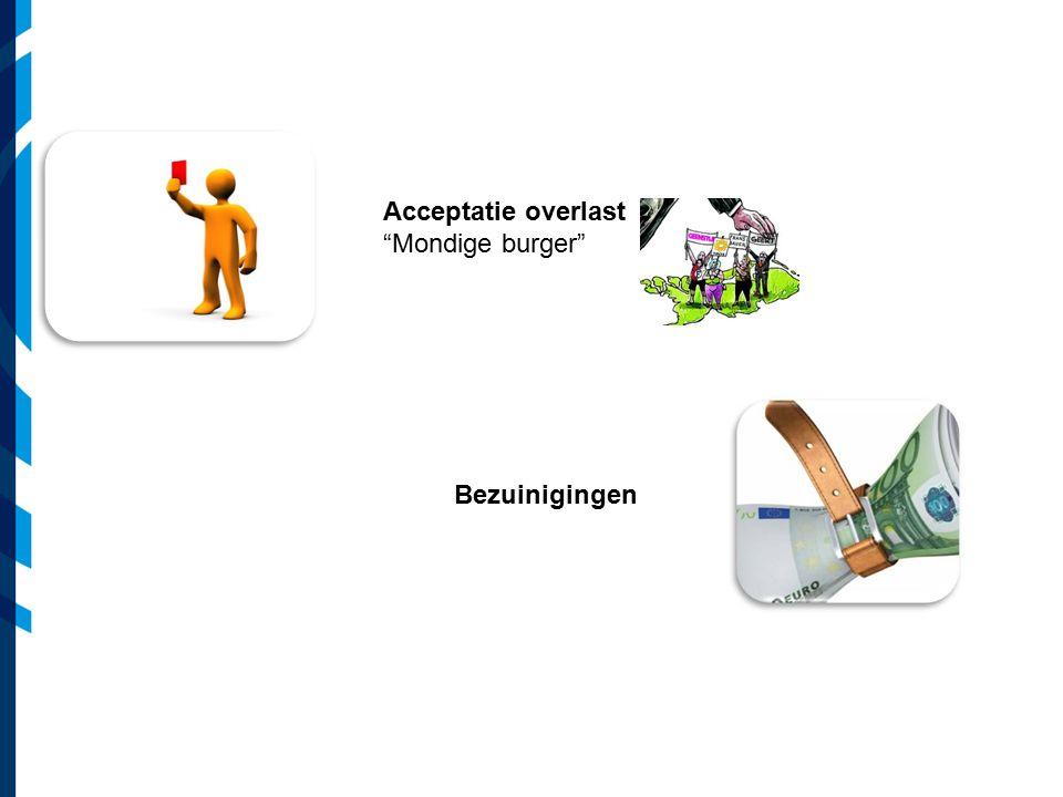 "Acceptatie overlast ""Mondige burger"" Bezuinigingen"