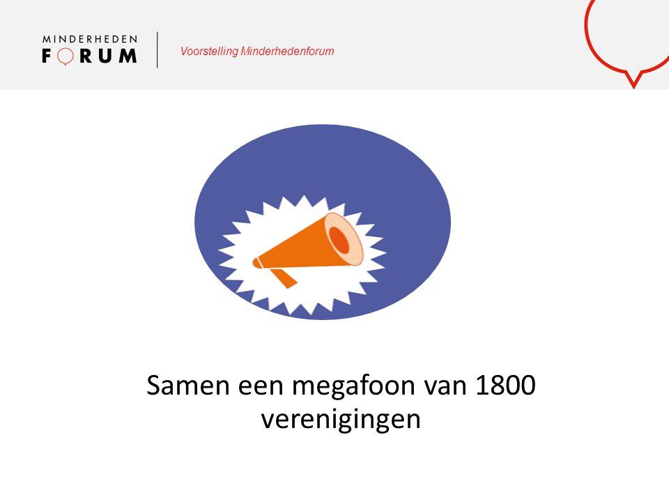 Voorstelling Minderhedenforum Samen een megafoon van 1800 verenigingen