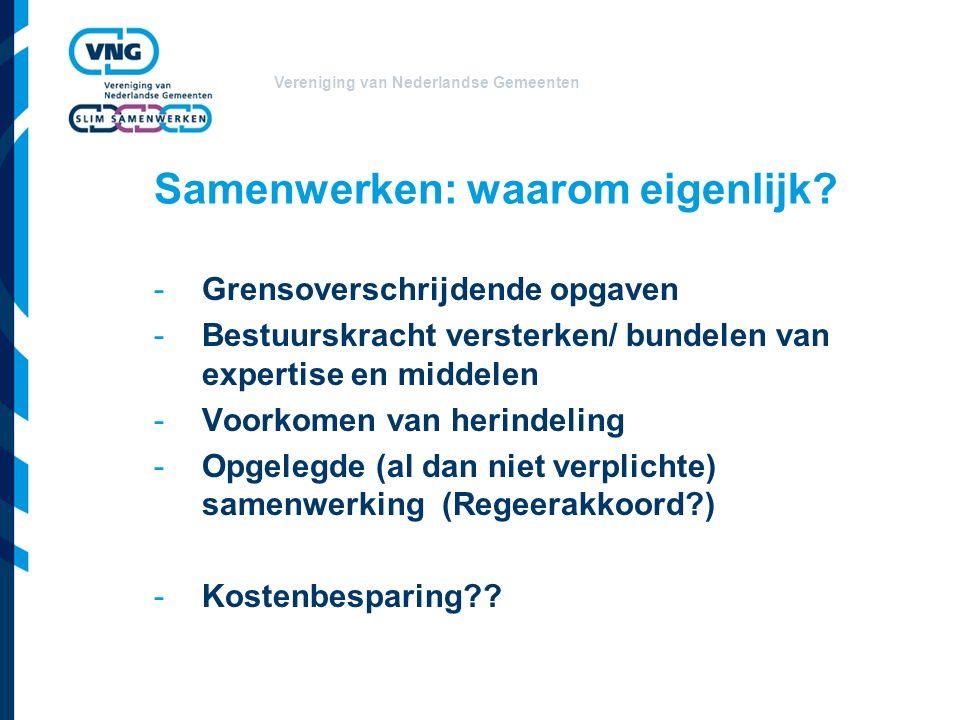 Vereniging van Nederlandse Gemeenten Rol griffie bij: -Regionale focus van de raad: Samenwerking is 'gewoon' raadswerk -Inrichting proces/ regionale cie of werkgroep -Informatievoorziening, uitwisseling -Inpassen in P&C-cyclus -Afstemming andere griffiers/ gemeenteraden, bijv bij wijzigingsvoorstellen