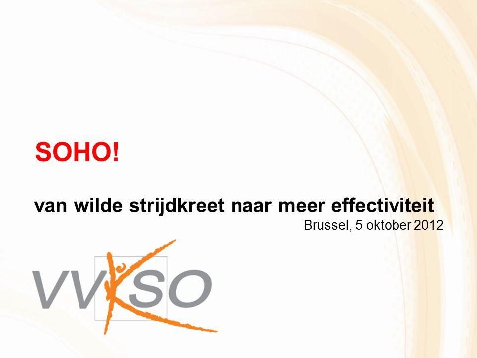 SOHO! van wilde strijdkreet naar meer effectiviteit Brussel, 5 oktober 2012
