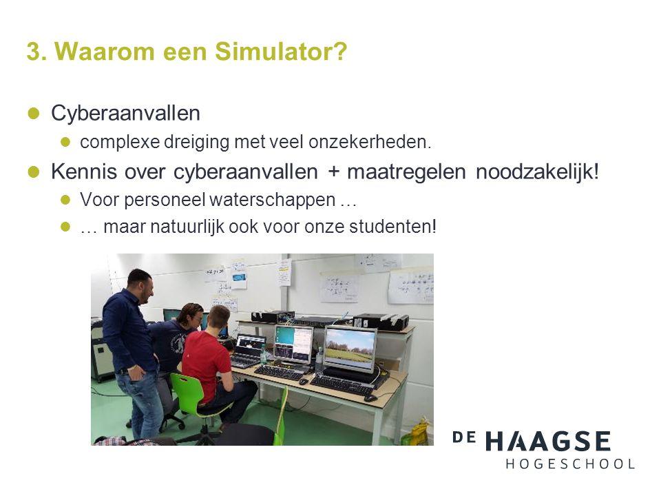 3. Waarom een Simulator. Cyberaanvallen complexe dreiging met veel onzekerheden.