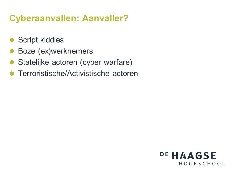 Cyberaanvallen: Aanvaller.