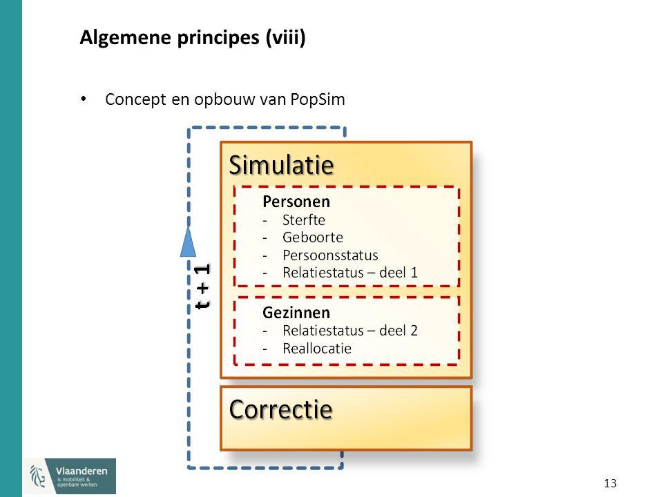 13 Algemene principes (viii) Concept en opbouw van PopSim
