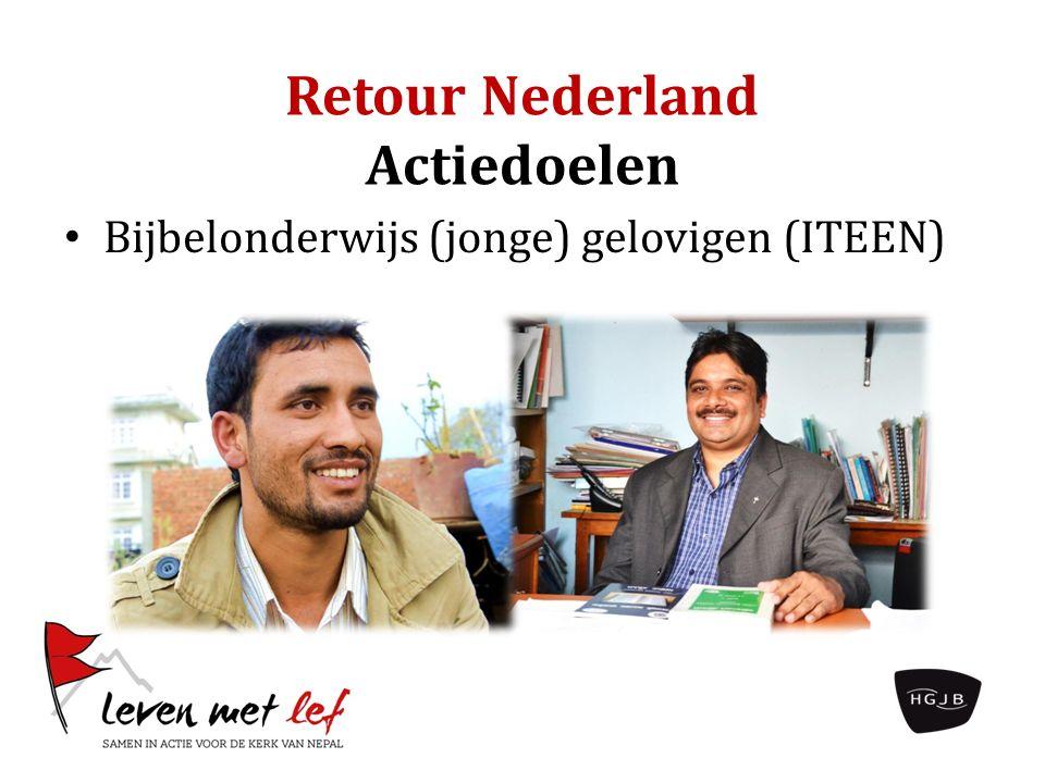 Retour Nederland Actiedoelen Bijbelonderwijs (jonge) gelovigen (ITEEN)