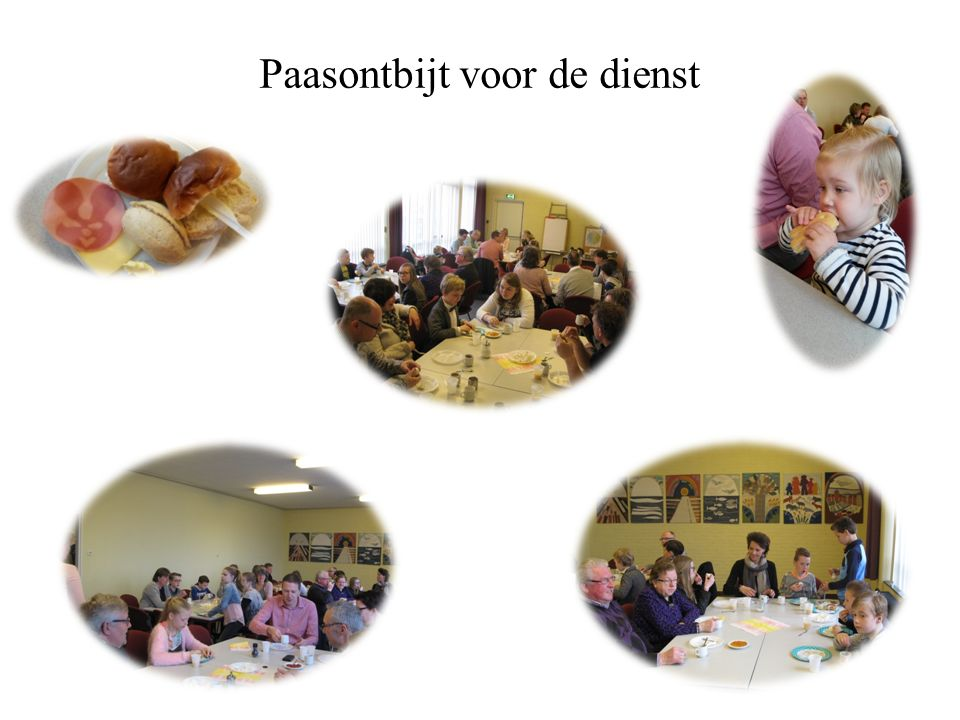 Paasontbijt voor de dienst