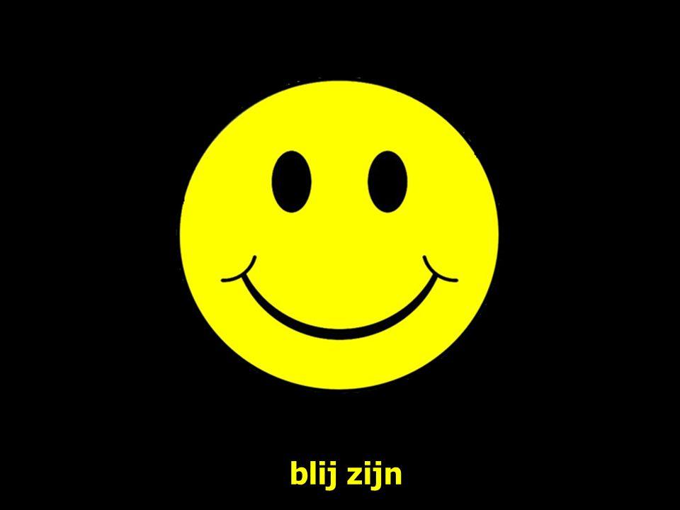 blij zijn