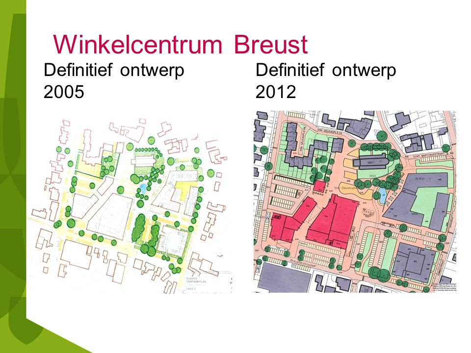 Winkelcentrum Breust Definitief ontwerp 20052012