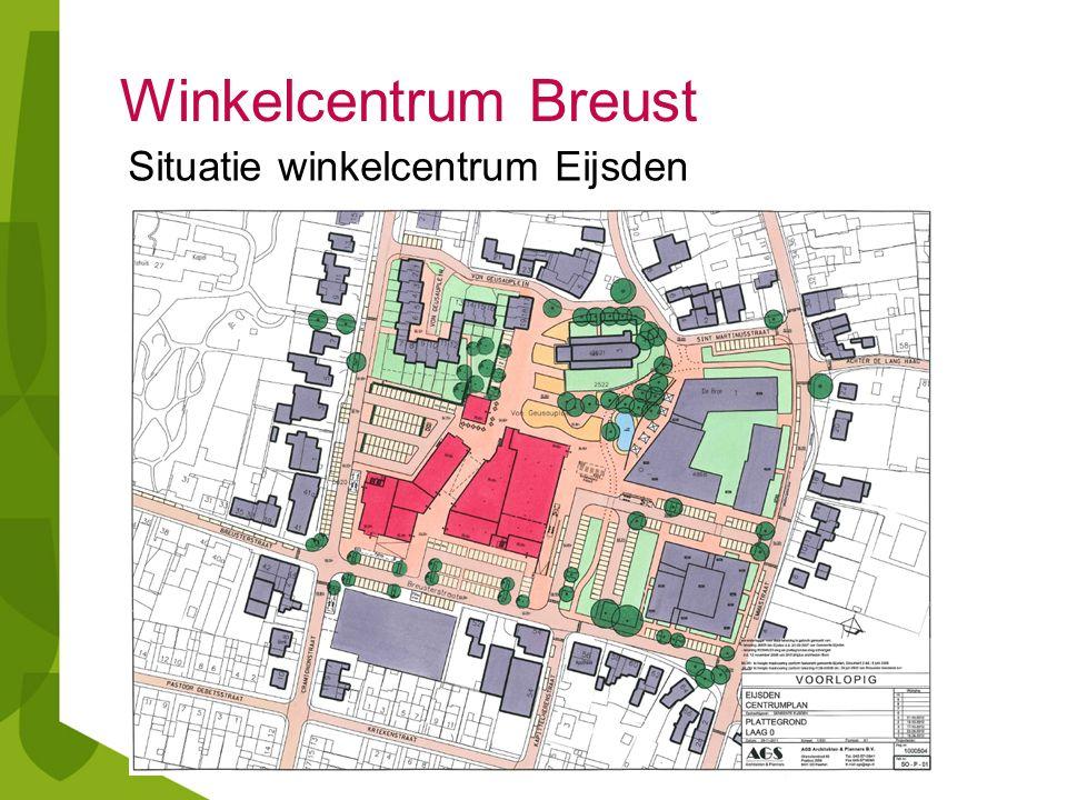 Winkelcentrum Breust Situatie winkelcentrum Eijsden