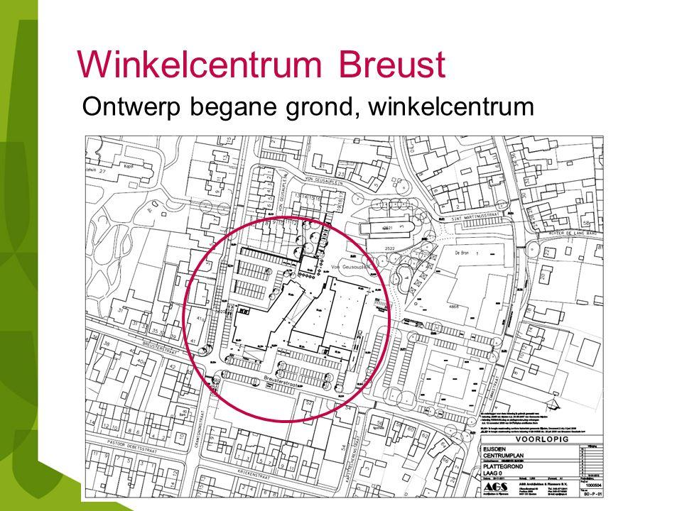 Winkelcentrum Breust Ontwerp begane grond, winkelcentrum