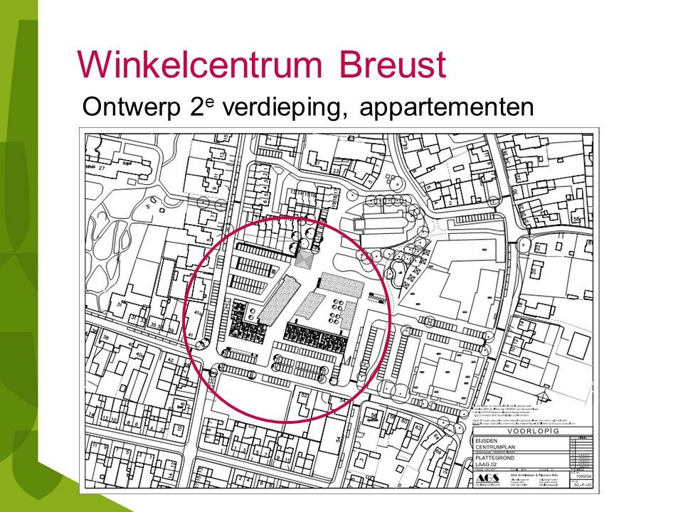 Winkelcentrum Breust Ontwerp 2 e verdieping, appartementen
