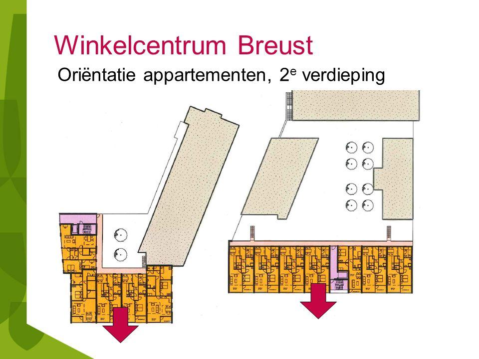 Winkelcentrum Breust Oriëntatie appartementen, 2 e verdieping