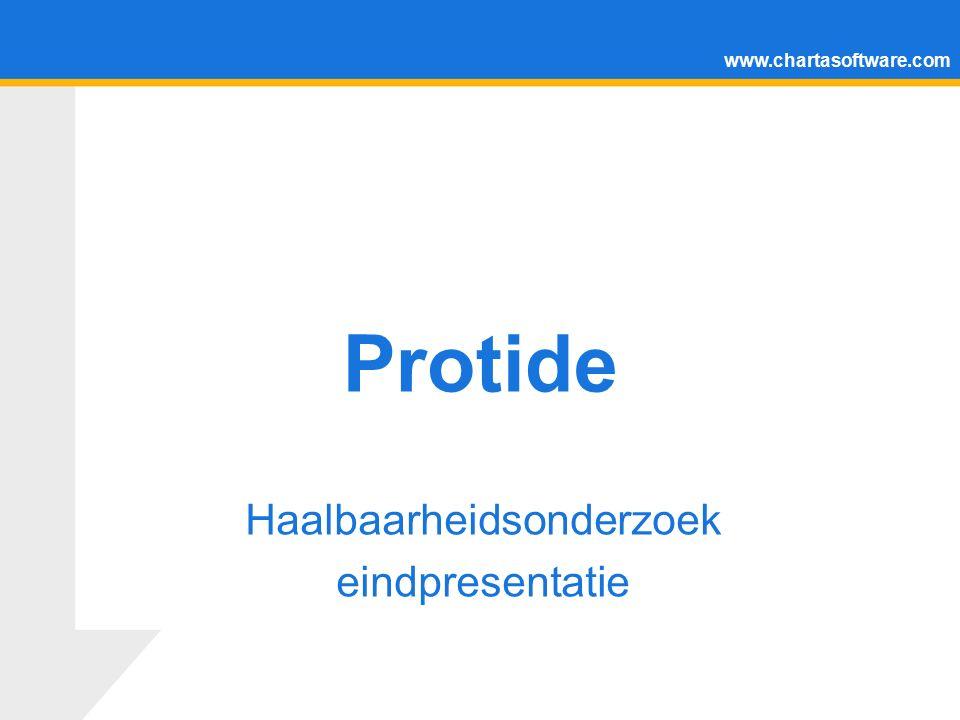 www.chartasoftware.com Protide Haalbaarheidsonderzoek eindpresentatie