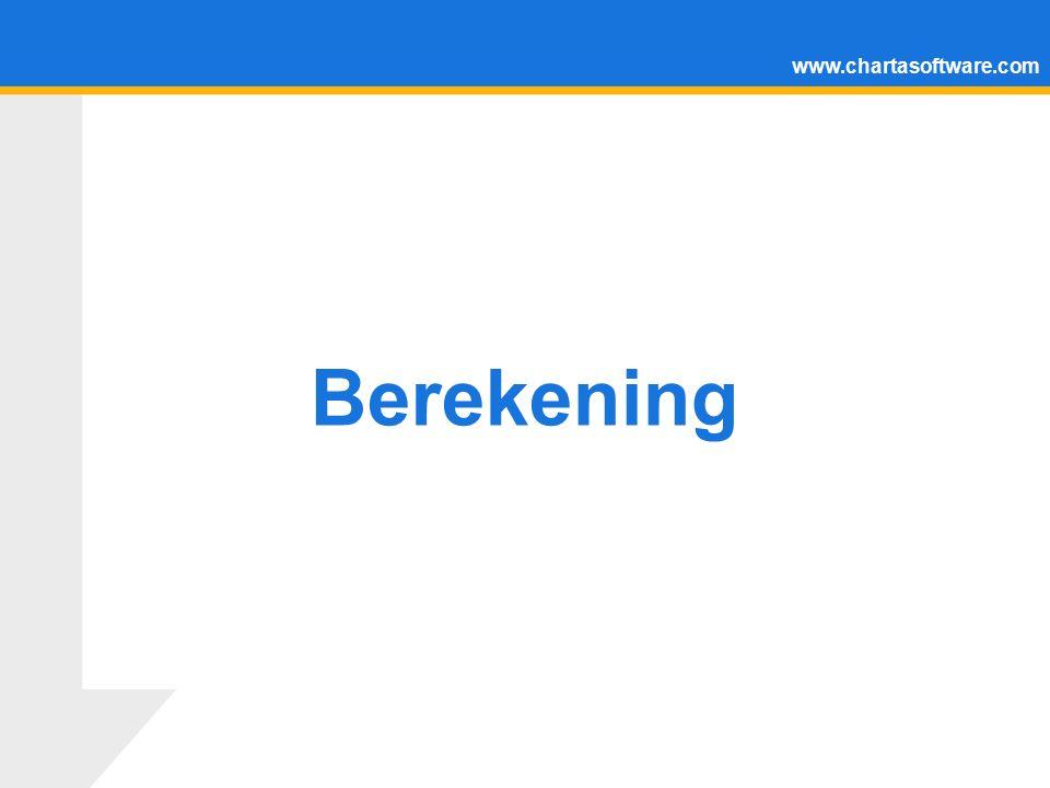 www.chartasoftware.com Berekening