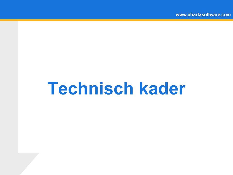 www.chartasoftware.com Technisch kader