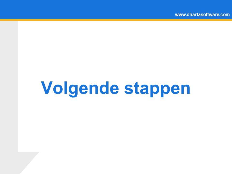 www.chartasoftware.com Volgende stappen