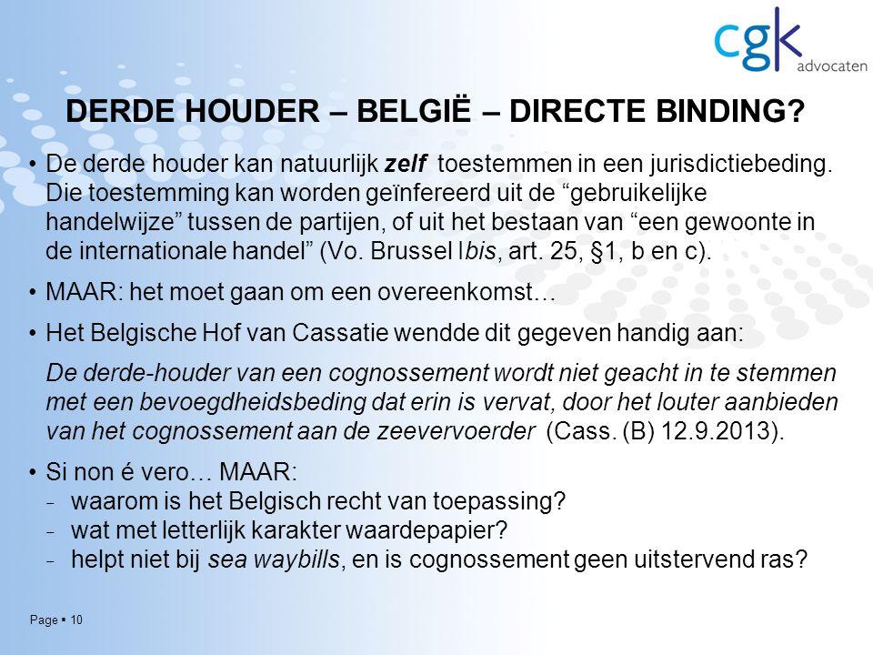 Page  10 DERDE HOUDER – BELGIË – DIRECTE BINDING.