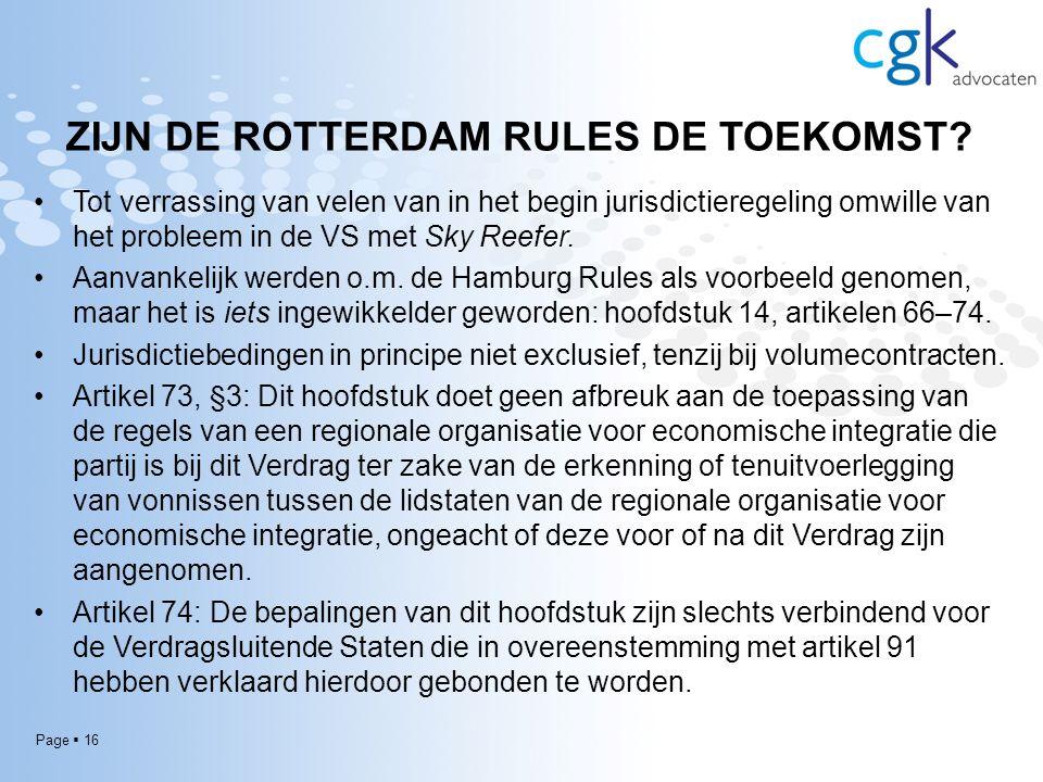 Page  16 ZIJN DE ROTTERDAM RULES DE TOEKOMST.