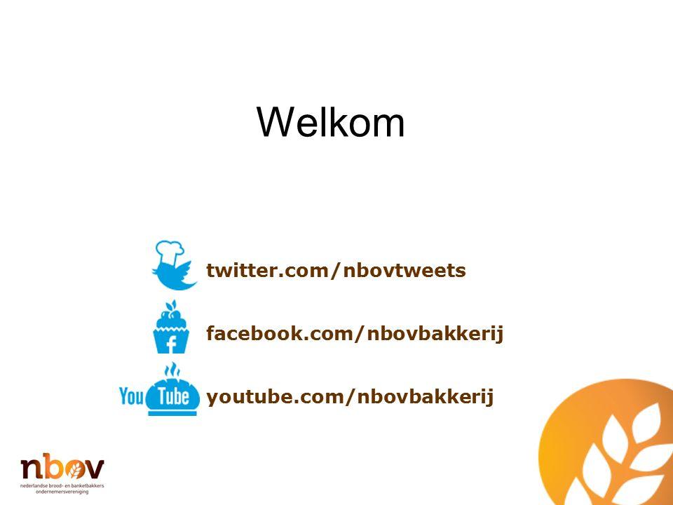 Welkom twitter.com/nbovtweets facebook.com/nbovbakkerij youtube.com/nbovbakkerij