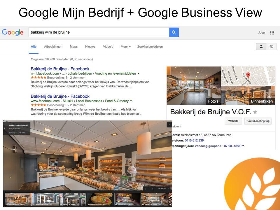 Google Mijn Bedrijf + Google Business View