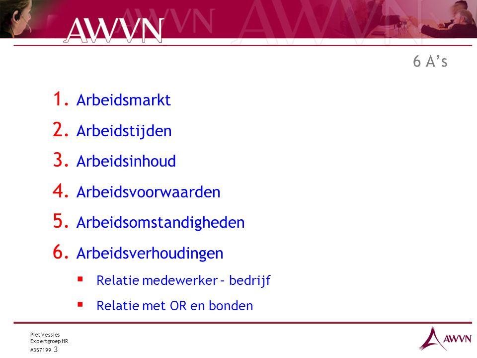 Piet Vessies Expertgroep HR #357199 3 6 A's 1.Arbeidsmarkt 2.
