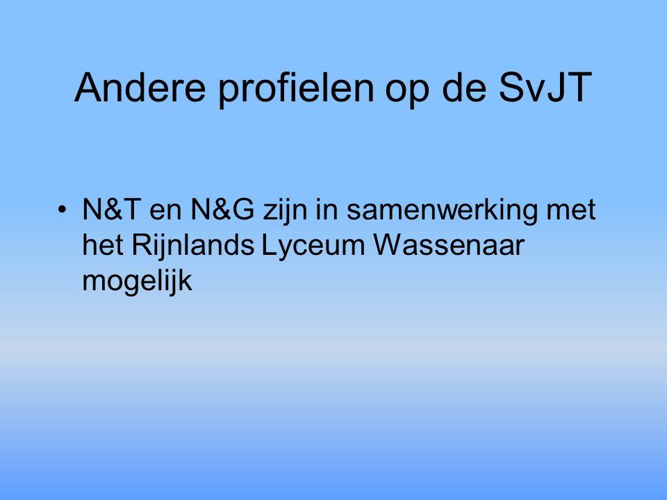 Andere profielen op de SvJT N&T en N&G zijn in samenwerking met het Rijnlands Lyceum Wassenaar mogelijk