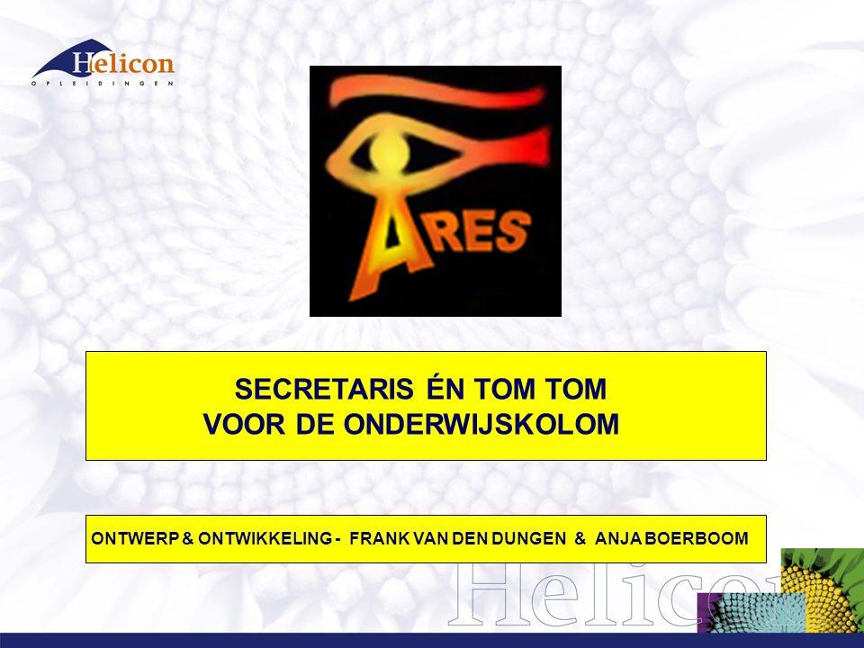 SECRETARIS ÉN TOM TOM VOOR DE ONDERWIJSKOLOM ONTWERP & ONTWIKKELING - FRANK VAN DEN DUNGEN & ANJA BOERBOOM