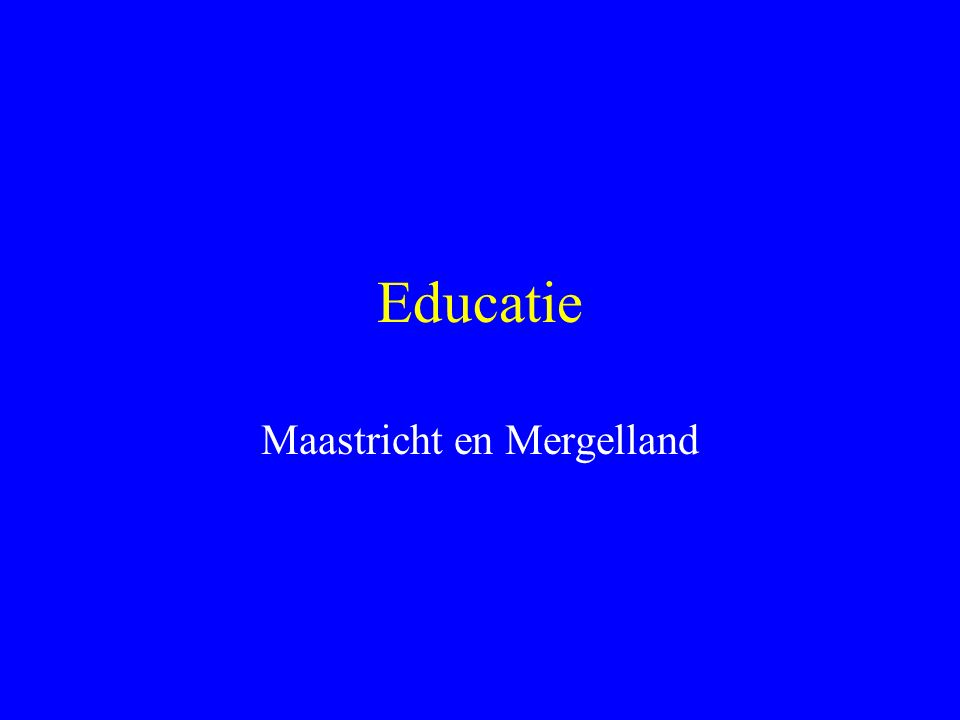 Educatie wat is dat .