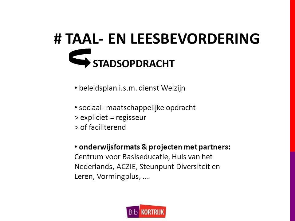 # TAAL- EN LEESBEVORDERING beleidsplan i.s.m.